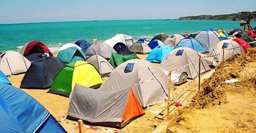 Drukke camping