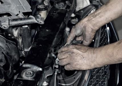 Motor van auto